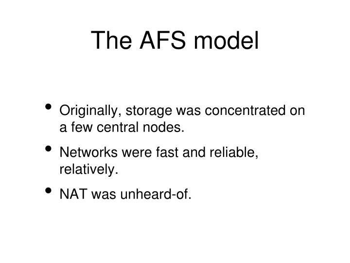 The AFS model