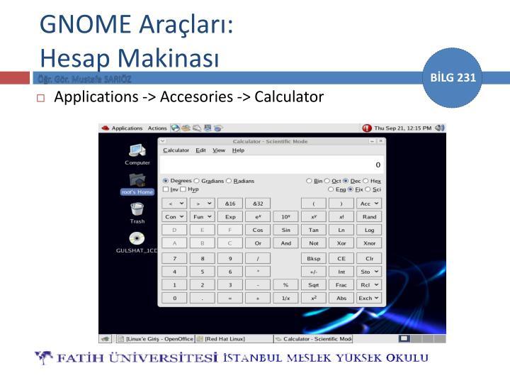 GNOME Araçları:
