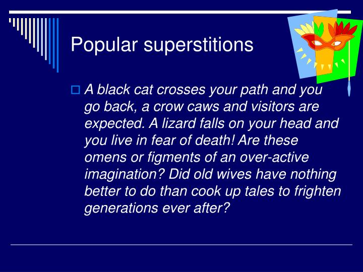 superstitions speech term papers