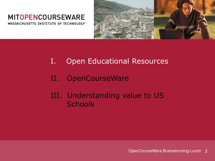 I.    Open Educational Resources