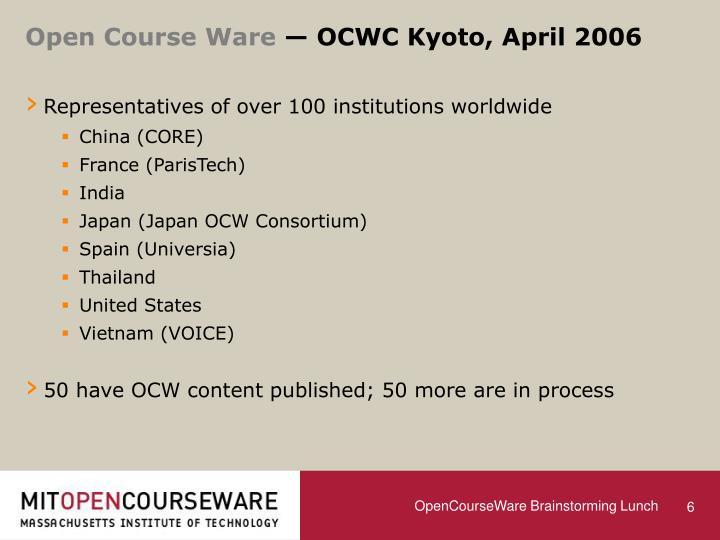 Open Course Ware