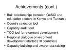 achievements cont