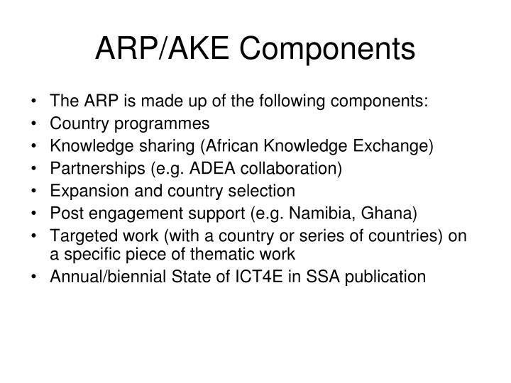 ARP/AKE Components
