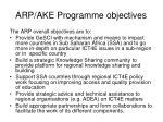 arp ake programme objectives