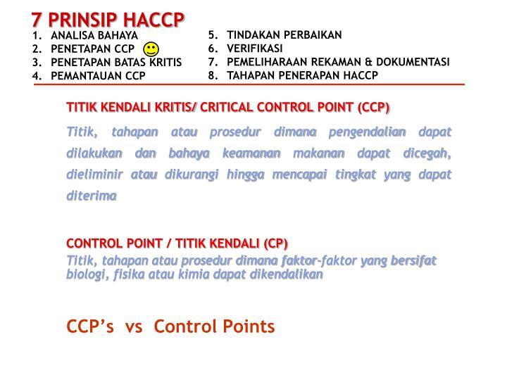 TITIK KENDALI KRITIS/ CRITICAL CONTROL POINT (CCP)