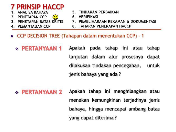 CCP DECISION TREE (Tahapan dalam menentukan CCP) - 1