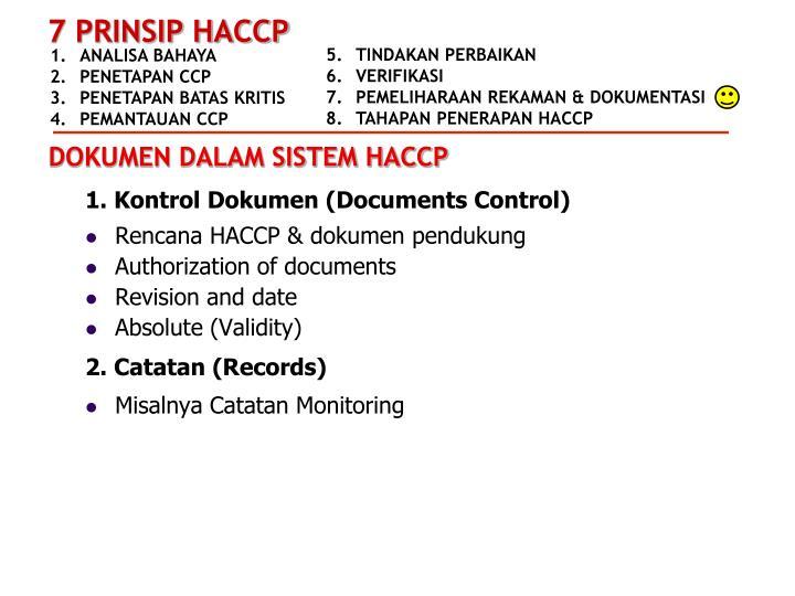 1. Kontrol Dokumen (Documents Control)