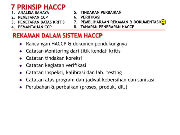 Rancangan HACCP & dokumen pendukungnya