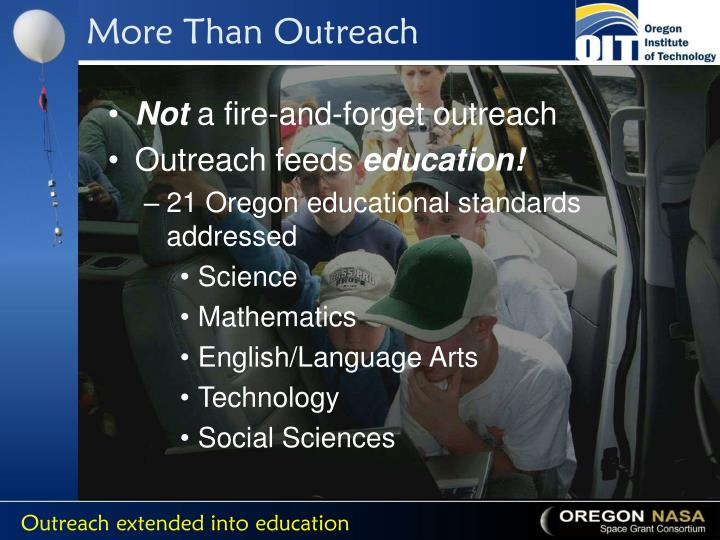 More Than Outreach