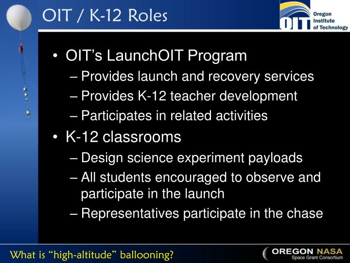 OIT / K-12 Roles