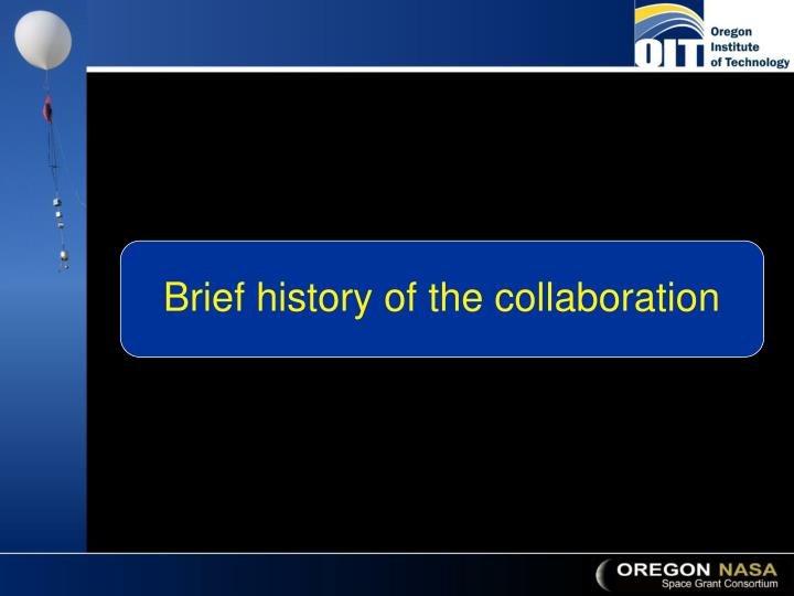 Brief history of the collaboration