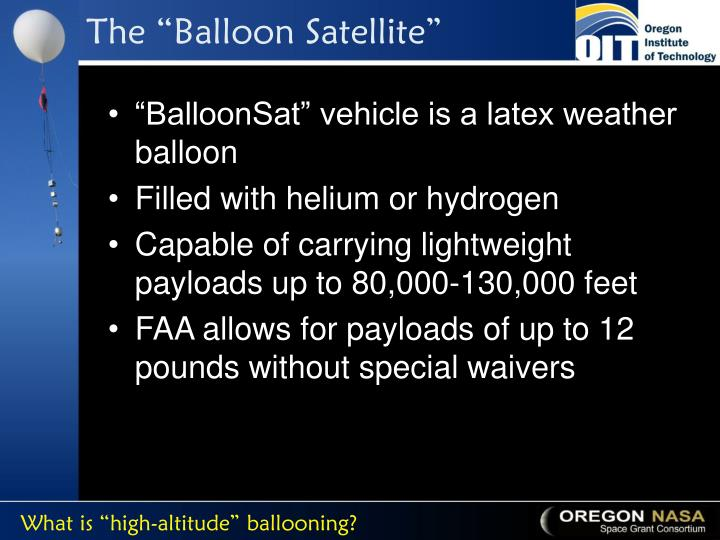 "The ""Balloon Satellite"""