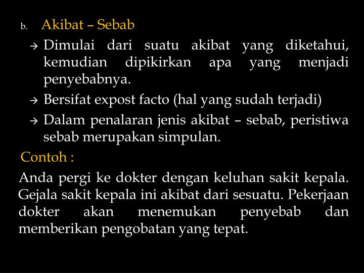 Akibat – Sebab