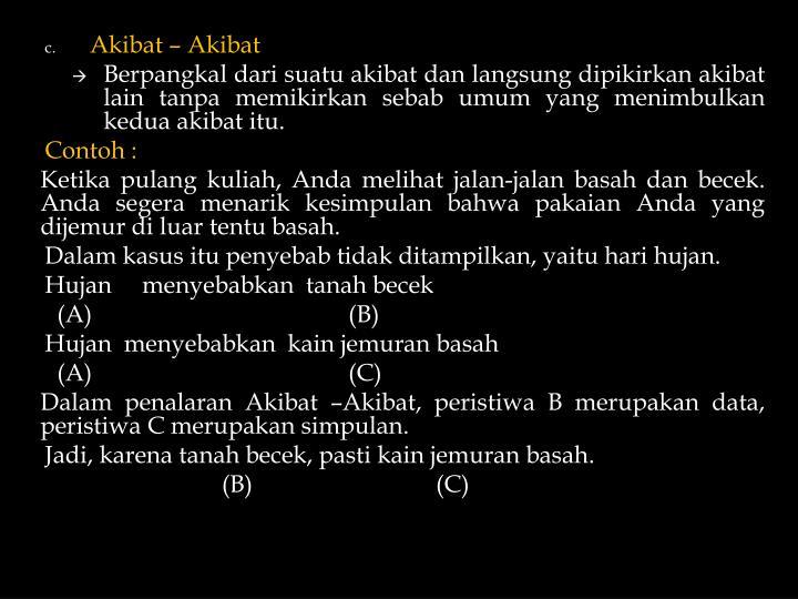 Akibat – Akibat