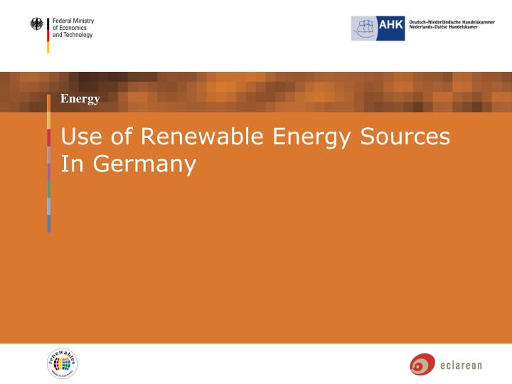 Use of Renewable Energy Sources In Germany