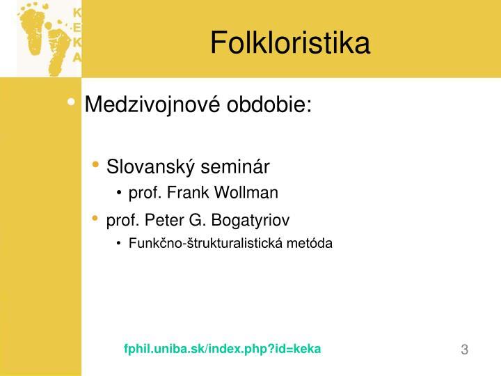 Folkloristika