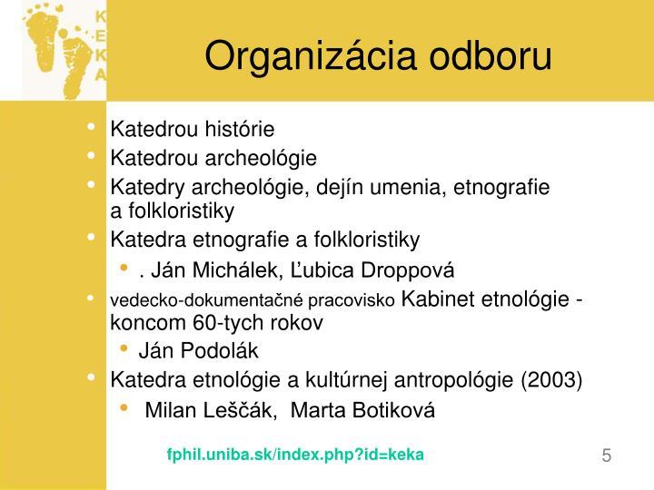 Organizácia odboru