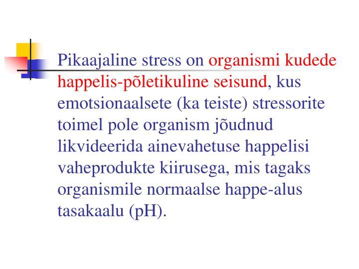 Pikaajaline stress on