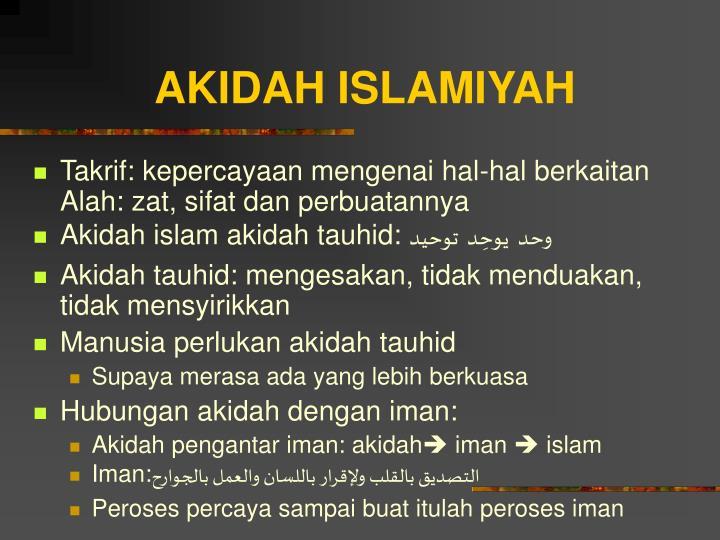 AKIDAH ISLAMIYAH