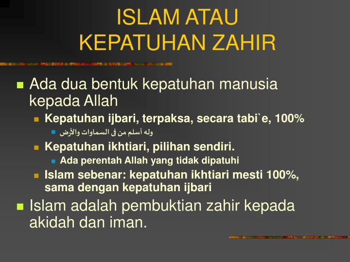 ISLAM ATAU