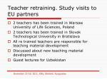 teacher retraining study visits to eu partners