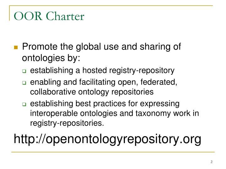 OOR Charter