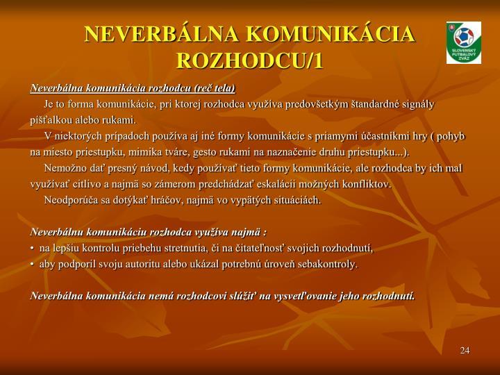 NEVERBÁLNA KOMUNIKÁCIA ROZHODCU/1