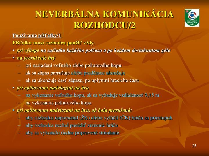 NEVERBÁLNA KOMUNIKÁCIA ROZHODCU/2