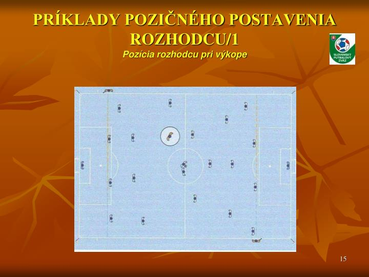 PRÍKLADY POZIČNÉHO POSTAVENIA ROZHODCU/1