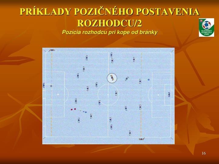 PRÍKLADY POZIČNÉHO POSTAVENIA ROZHODCU/2