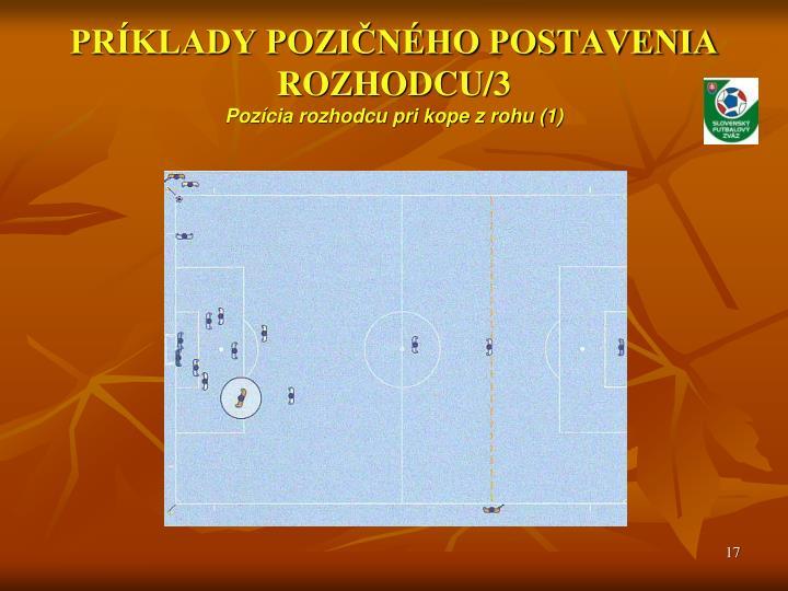 PRÍKLADY POZIČNÉHO POSTAVENIA ROZHODCU/3