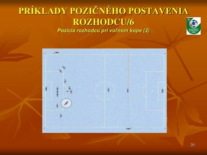 PRÍKLADY POZIČNÉHO POSTAVENIA ROZHODCU/6