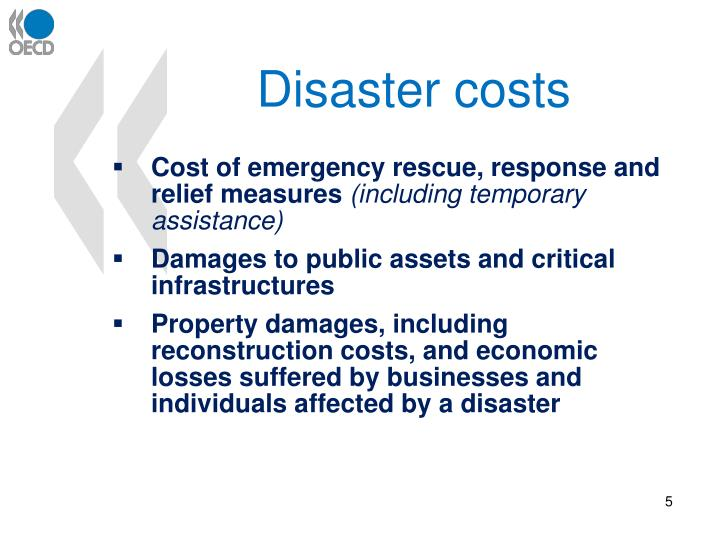 Disaster costs