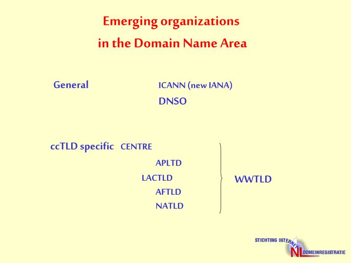 Emerging organizations