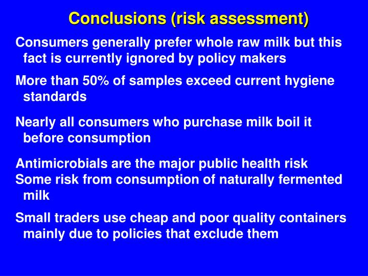 Conclusions (risk assessment)
