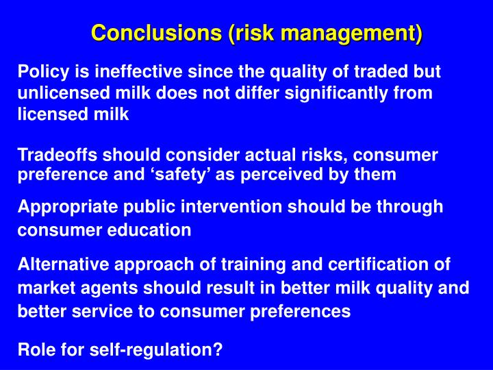 Conclusions (risk management)