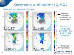 observations vs simulations z h z dr