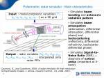 polarimetric radar simulator main characteristics