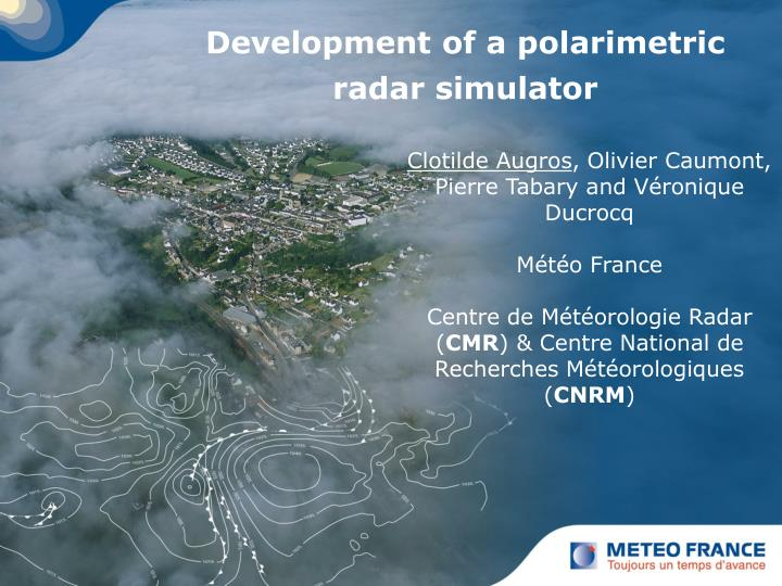 Development of a polarimetric radar simulator