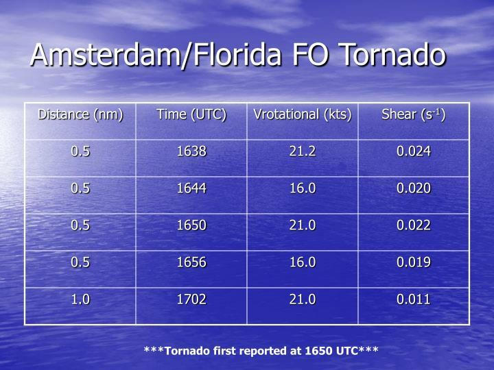 Amsterdam/Florida FO Tornado