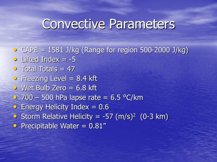 Convective Parameters