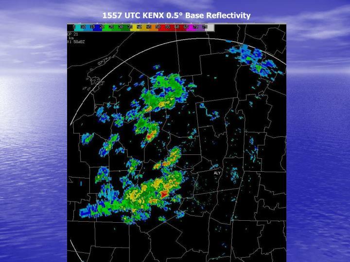 1557 UTC KENX 0.5° Base Reflectivity