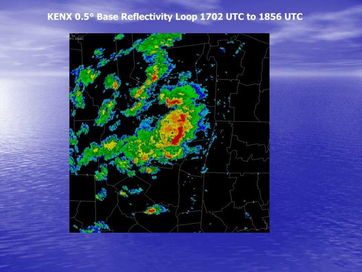 KENX 0.5° Base Reflectivity Loop 1702 UTC to 1856 UTC