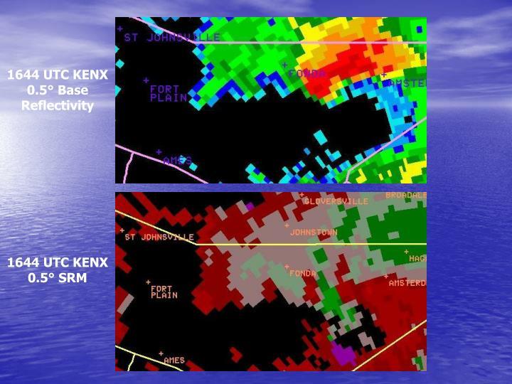 1644 UTC KENX 0.5° Base Reflectivity