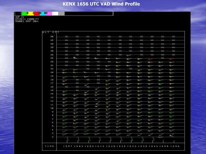 KENX 1656 UTC VAD Wind Profile