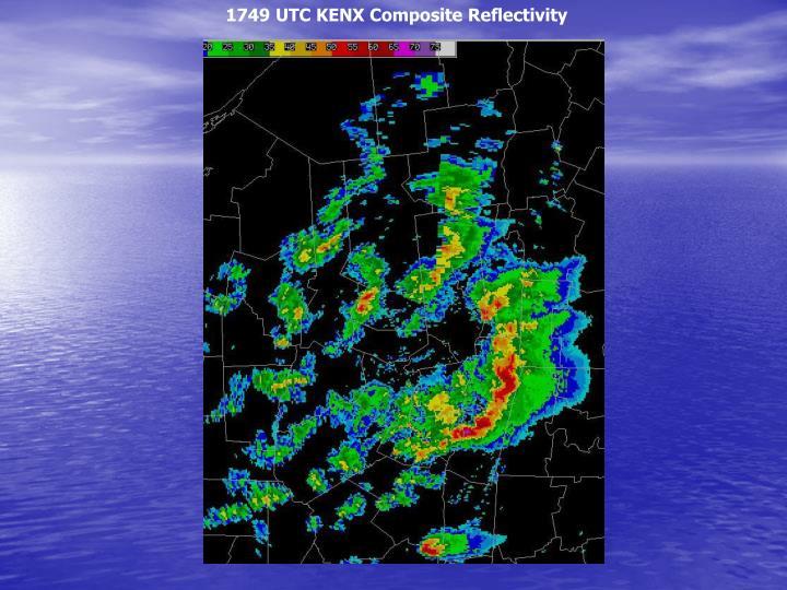 1749 UTC KENX Composite Reflectivity