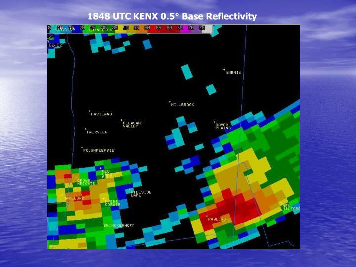 1848 UTC KENX 0.5° Base Reflectivity