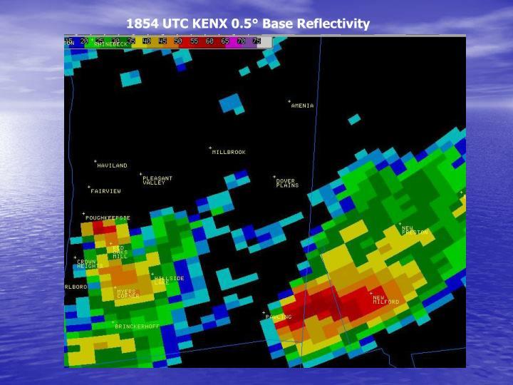 1854 UTC KENX 0.5° Base Reflectivity