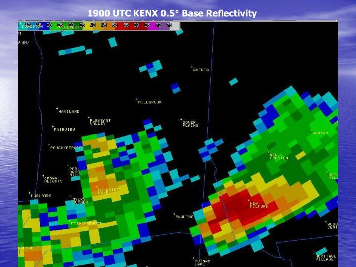 1900 UTC KENX 0.5° Base Reflectivity