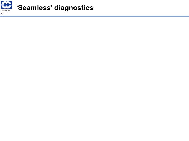 'Seamless' diagnostics